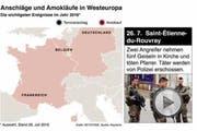 Zahlreiche Amokläufe und Terroranschläge ereigneten sich 2016 in Westeuropa. (Bild: Keystone)