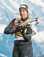 Lena Häcki steckt inmitten der Vorbereitung. Die Weltcup-Saison beginnt Ende November. (Bild: Dominik Wunderli (Engelberg, 11. April 2015))