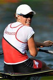 Auf Medaillenkurs: Jeannine Gmelin. (Bild: EPA/Franck Robichon)