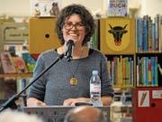 Rahel Wunderli bei ihrem Referat über die Urschner Berglandwirtschaft. Bild: urh (Altdorf, 17. März 2017)