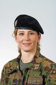 «In der Armee kann ich etwas Sinnvolles für die Gesellschaft tun.» Corina Gantenbein, Oberstleutnant im Generalstab (Bild: PD)