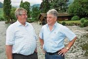 Paul Matter (links) hat das Präsidium an Adolf Scherl übergeben. (Bild: Matthias Piazza (Ennetbürgen, 29. Juni 2017))