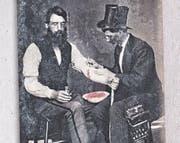 Der Aderlass ist zur Gründungszeit des Freiämter Ärzteverbands und noch lange danach ein Allerheilmittel. (Bild: Festschrift Freiämter Ärzteverband)