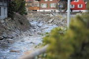 Die Wasserkraftnutzung am Alpbach ist seit 2012 ein Dauerthema. Im Bild der Alpbach in Erstfeld (Bild: Urs Hanhart)