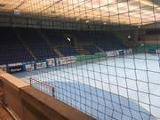 Blick in die Zürcher Saalsporthalle. (Bild: Daniel Wyrsch (Zürich, 16.2.2018))