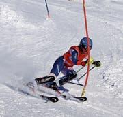 Christina Zurfluh war sowohl beim Porr-Race-Slalom (Bild) als auch beim Kinzig-Derby und beim Edelweiss-Cup die beste Urnerin. (Bild: Lothar Imhof junior (Bürglen, 25. Februar 2017))
