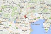 Die Bewohner der Region Venetien (rosa umrandet) wollen nicht mehr zu Italien gehören. (Bild: Google Maps)