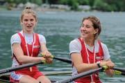 Erfolgreicher Frauendoppelzweier mit der Stansstader Seeclüblerin Serafina Merloni (rechts) und Lara Eichenberger vom RC Uster. (Bild Ralf Blase)