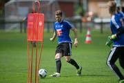 Erstes Training am Montag mit dem FC Luzern: Simon Grether. (Bild: Nadia Schärli / Neue LZ)