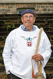 Geislechlepfer Uli Amstad macht seit 50 Jahren mit am Beggrieder Samichlais-Izug. (Bild Jakob Christen)