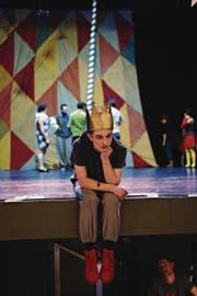 In dieser Szene schaut Pippin (Fabian von Mentlen) etwas nachdenklich drein. Eigentlich ist er im Musical aber eine Frohnatur. (Bild: Mathias Arnold (Altdorf, 3. Januar 2018))