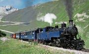 Mit Volldampf unterwegs: Die Bahn auf der Furka-Bergstrecke fährt ab Samstag nach Fahrplan. (Bild: PD)
