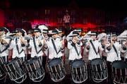 Mit einem speziellen Auftritt feiert zudem das «Top Secret Drum Corps»sein 25-jähriges Bestehen. (Bild: Keystone / Patrick Straub)