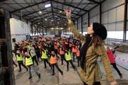 Die Eröffnungszeremonie setzt auf Menschenmassen: 340 Personen sind involviert. (Bild Florian Arnold)