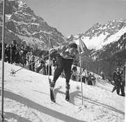Der Schweizer Heinz von Allmen zählte zu den elegantesten Skirennfahrern der damaligen Zeit. (Bild: Archiv Walter Kuster)