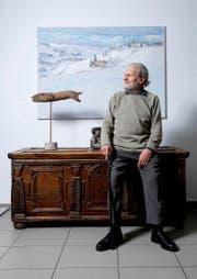 In seiner Galerie «Kunst & Krempel» sorgt Walter F. Haettenschweiler zurzeit für das Erstere. (Bild Stefan Kaiser)