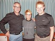 Sie sind die Besten der Radmeisterschaft; von links: Toni Baumann, Pia Baumann und Peter Walker. (Bild: PD)