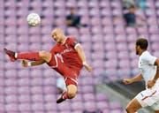 Hat in den bisherigen vier Super-League-Partien einmal getroffen: Sion-Stürmer Marco Schneuwly. (Bild: Laurent Gilliéron/Key (Genf, 2. August 2017))
