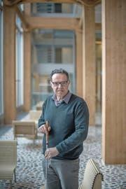 Er erkennt Orte am Geruch- und Geräuschpegel: Christoph Ammann. (Bild: Pius Amrein (Zürich, 22. Februar 2018))