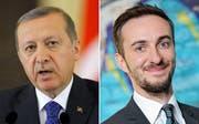 Das Landgericht Hamburg hat auf Antrag des türkischen Präsidenten Recep Tayyip Erdogan eine einstweilige Verfügung gegen den ZDF-Moderator Jan Böhmermann erlassen. (Bild: EPA / Robert Ghement)