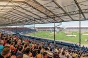 Wie das «Eidgenössische» 2016 in Estavayer wird auch jenes in Zug gegen 56 000 Besucher in die Arena locken. (Bild: Roger Grütter ( 26. August 2016))