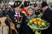 Der neue Gallivater Werner Schnüriger mit seiner Frau Rita. (Bild: Philipp Schmidli (Kriens, 13. januar 2018))