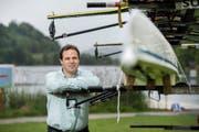 Christian Stofer hat schon viele positive Reaktionen über die neue Infrastruktur am Rotsee erhalten. «Die Leute sind begeistert», sagt er. (Bild Dominik Wunderli)