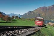 Die Bergbahn darf bis ins Jahr 2040 von Treib nach Seelisberg fahren. (Bild: Christoph Näpflin (14. Oktober 2017))