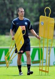 2011: Markus Babbel steigt als Trainer mit Hertha BSC in die Bundesliga auf. (Bild: AP)