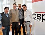 Leo Spichtig, Karl Vogler, Franz Enderli und Christian Schäli (von links) berichteten über ihre Tätigkeiten.Bild: Romano Cuonz