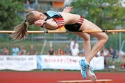 Möchte in der kommenden Saison 1,86 Meter überspringen: die 20-jährige Livia Odermatt aus Sempach. (Bild Hans-Peter Spielmann)