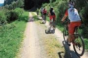 Auch gemeinsame Biketouren gehören zum Erwachsenensport-Angebot. (Bild: PD)