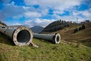 Die total 22 Stützen hatten die Berglandschaft zwischen Turren und Schönbüel seit 1999 derart geprägt, dass ihr plötzliches Verschwinden dem Gebiet fast schon ein neues Gesicht verleiht. (Bild: Corinne Glanzmann)