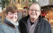 Dank Maria und Karl Gisler-Geser gibt es zum Jahresbeginn ein lebendiges Bürgler Brauchtum. (Bild: Christof Hirtler (Bürglen, 27. 12. 2017))