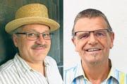 Die beiden Kandidaten: Peter Keusch (SVP) und Kurt Brunner (Parteilos). (Bilder: PD)