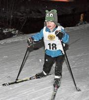 Jonas Briker, jüngster Teilnehmer. (Bilder: jm (Unterschächen, 7. 2. 18))