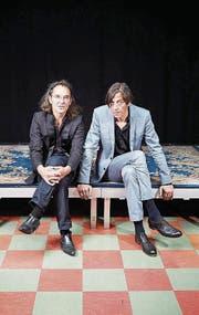 Pedro Lenz (rechts) erzählt, Christian Brantschen spielt. (Bild: PD)