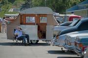 Ein Oldtimer-Wohnmobil in Luzern. (Bild: Corinne Glanzmann, Luzerner Zeitung / Luzern, 27.05.2017)