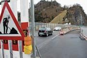 Die Achereggbrücke während der Sanierung. (Bild: Corinne Glanzmann (Stansstad, 23. Februar 2016))