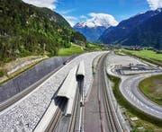 Die Neat hat dem Kanton Uri viel Arbeit gebracht: ein Blick auf den Eingang des Gotthard-Basistunnels in Schattdorf. (Bild: Aura/Emanuel Ammon)