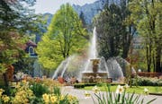 Der Alpensole-Springbrunnen im Kurgarten. (Bild: PD)