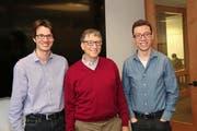 Severin Hacker (links) und Luis von Ahn (rechts) konnten auch Bill Gates von ihrer App überzeugen. Das Bild entstand vor einem Jahr. (Bild PD)