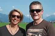 Sofie Benz aus Zürich mit Jörg Spichtig. (Bild: Robert Hess/NZ, Buochs, 23. September)