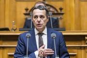 Ignazio Cassis erklärt die Annahme der Wahl zum 117. Mitglied des Bundesrates vor der Vereinigten Bundesversammlung. (Bild: Keystone (20.09.2017, Bern))