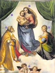 Gelangweilt oder nachdenklich? Die beiden Engelchen zu Füssen der Madonna haben ein Eigenleben entwickelt. (Bild: PD)