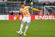 Der Luzerner Lazar Cirkovic am Ball. (Bild: Martin Meienberger/freshfocus (Lugano, 18. März 2018))