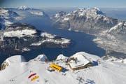 Das Gipfelrestaurant auf dem Stoos mit traumhafter Aussicht. (Bild: pd)