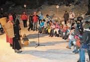 Auch in diesem Jahr werden die Kinder wieder gespannt den Worten des Samichlaus folgen. (Bild: PD (Haldi, Dezember 2016))