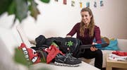 Die Sporttasche ist gepackt, das WM-Abenteuer kann für die Luzernerin Nora Murer beginnen. (Bild: Corinne Glanzmann (Luzern, 2. Februar 2018))