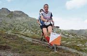Deborah Stadler erfolgreich unterwegs zum Schweizer-Meister-Titel in der Staffel auf dem Gotthardpass. (Bild: Franz Stadler (Gotthard-Passhöhe, 27. August 2017))